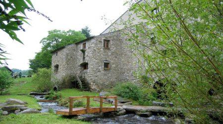 Nordwestseite der Mühle