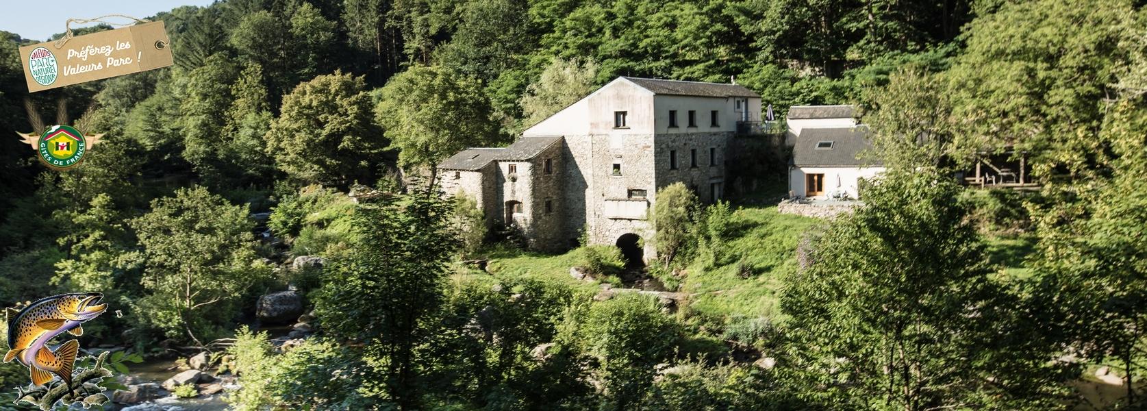 Urlaub in einer idyllisch gelegenen Wassermühle